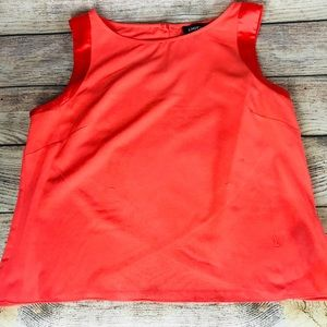 bebe Work Office Sleeveless Blouse w/ Pearl Clasp